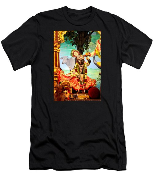 Sri Nath Ji, Radha Gopinath Mandir, Mumbai Men's T-Shirt (Athletic Fit)