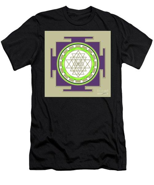 Sri Yantra Of Prosperity Men's T-Shirt (Athletic Fit)