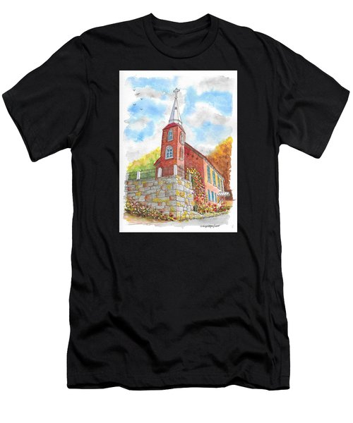 St. Agustine's Catholic Church, Austin, Nevada Men's T-Shirt (Athletic Fit)