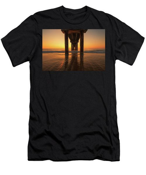 St Augustine Beach Pier Morning Light Men's T-Shirt (Athletic Fit)