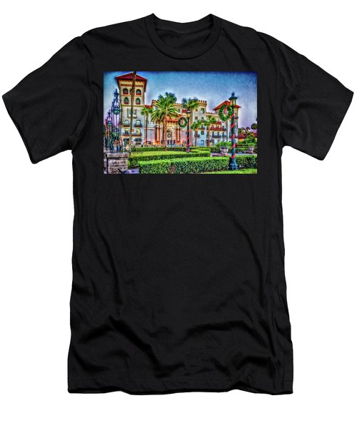 St. Augustine Downtown Christmas Men's T-Shirt (Athletic Fit)