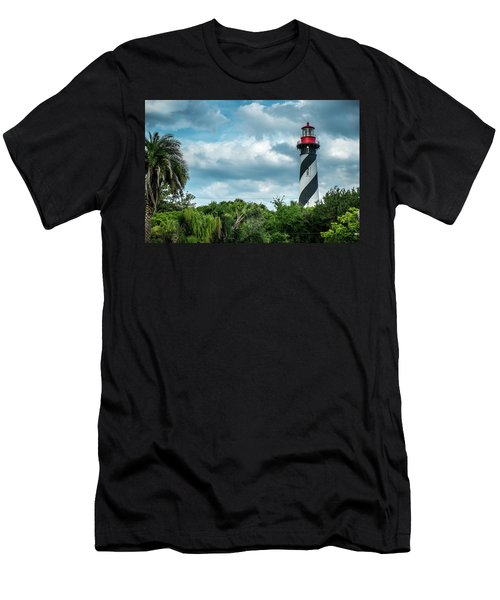 Men's T-Shirt (Slim Fit) featuring the photograph St. Augustine Lighthouse by Louis Ferreira