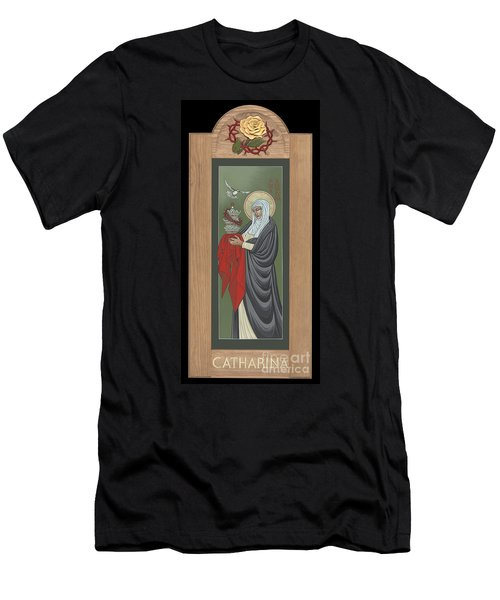 Men's T-Shirt (Athletic Fit) featuring the painting St Catherine Of Siena With Frame by William Hart McNichols