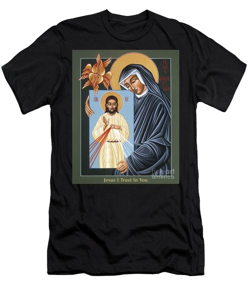 St Faustina Kowalska Apostle Of Divine Mercy 094 Men's T-Shirt (Athletic Fit)