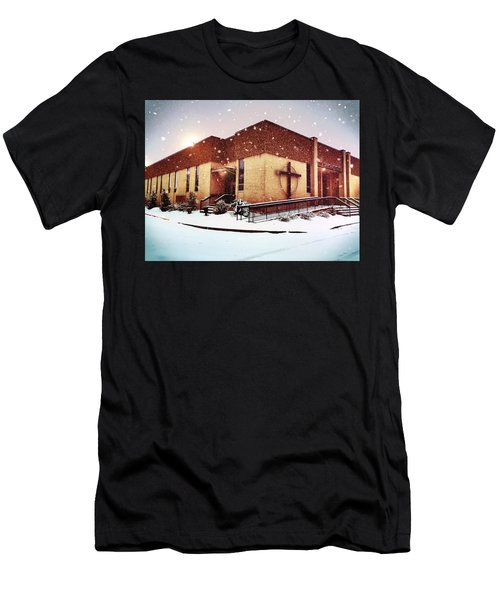 St. Isaac Jogues In The Snow Men's T-Shirt (Athletic Fit)