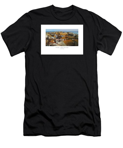 Men's T-Shirt (Athletic Fit) featuring the digital art St Ives - From The Tate by Julian Perry