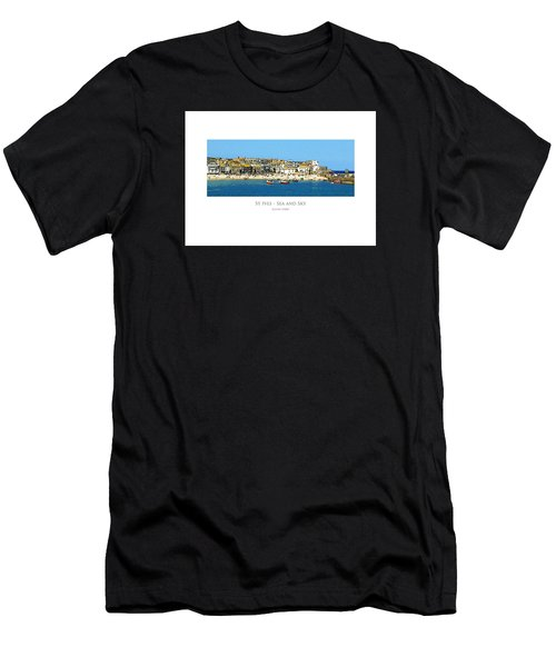 Men's T-Shirt (Athletic Fit) featuring the digital art St Ives Sea And Sky by Julian Perry