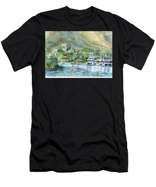 St. Maarten Cove Men's T-Shirt (Athletic Fit)