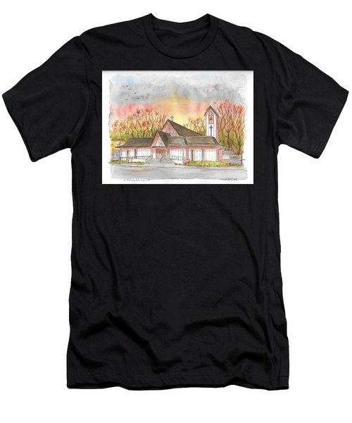 St. Malachy Church, Tehachapi, California Men's T-Shirt (Athletic Fit)