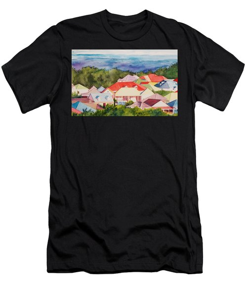 St. Martin Rooftops Men's T-Shirt (Athletic Fit)