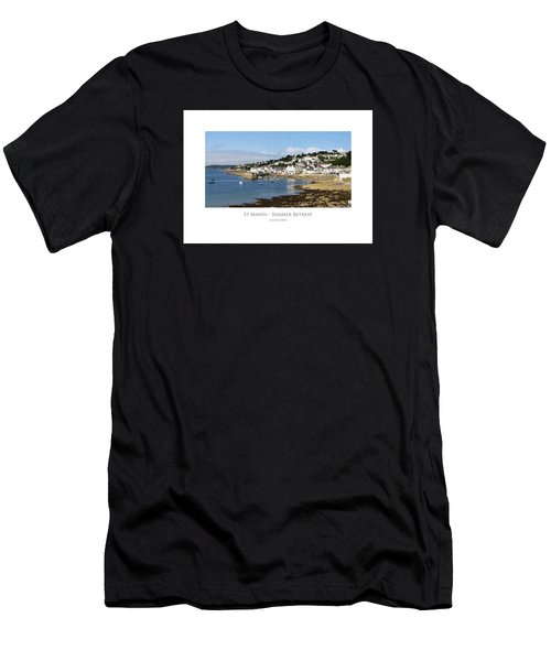 Men's T-Shirt (Athletic Fit) featuring the digital art St Mawes - Summer Retreat by Julian Perry