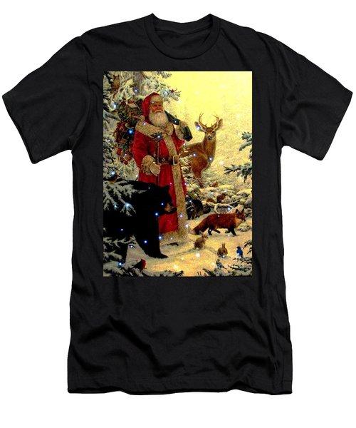 St Nick  And Friends Men's T-Shirt (Slim Fit) by Judyann Matthews