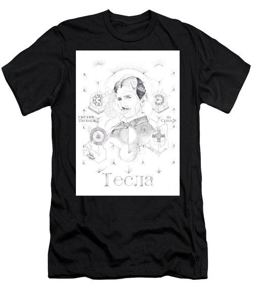 St. Nikola Tesla Of Serbia Sombra De Arreguin Men's T-Shirt (Athletic Fit)