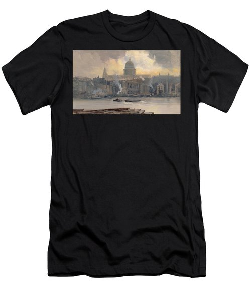 St Paul's From The River Men's T-Shirt (Athletic Fit)