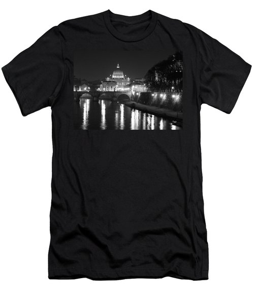 Men's T-Shirt (Athletic Fit) featuring the photograph St. Peters At Night by Donna Corless