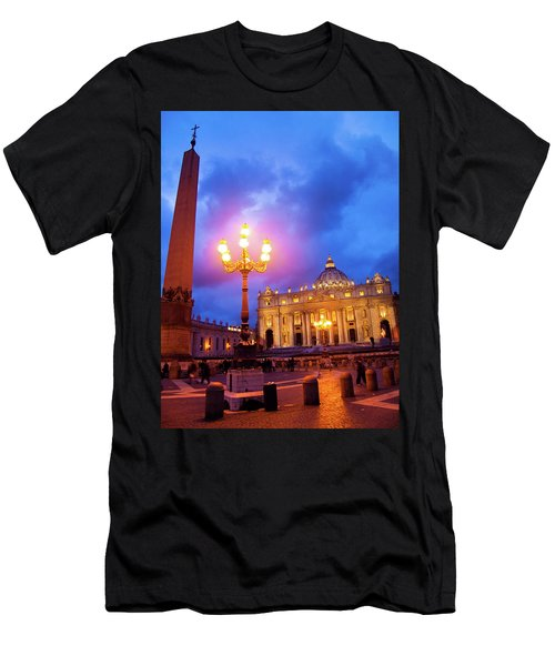 St. Peters Cathedral At Night Men's T-Shirt (Athletic Fit)