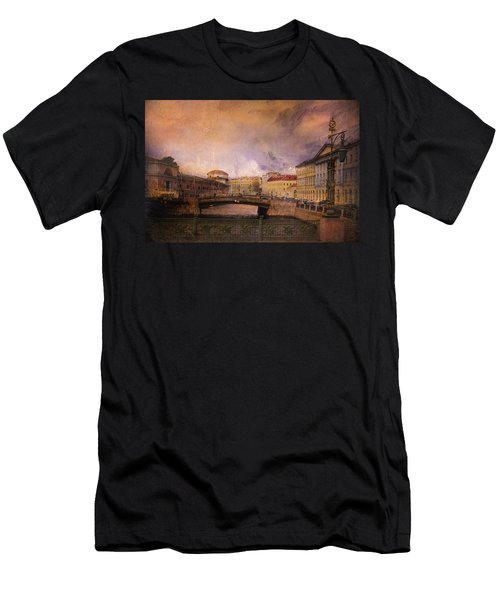 Men's T-Shirt (Slim Fit) featuring the photograph St Petersburg Canal by Jeff Burgess