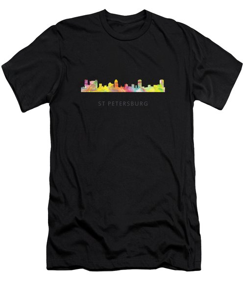 St Petersburg Florida Skyline Men's T-Shirt (Athletic Fit)