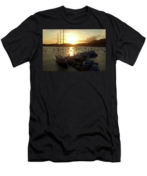 St. Thomas Harbor Men's T-Shirt (Athletic Fit)