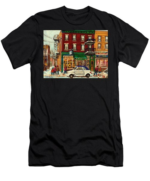 St Viateur Bagel And Mehadrins Deli Men's T-Shirt (Athletic Fit)