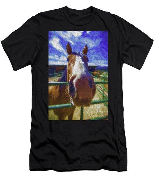 Stable Blues  Men's T-Shirt (Athletic Fit)