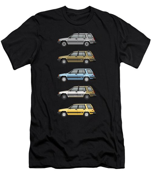 Stack Of Mark's Toyota Tercel Al25 Wagons Men's T-Shirt (Athletic Fit)