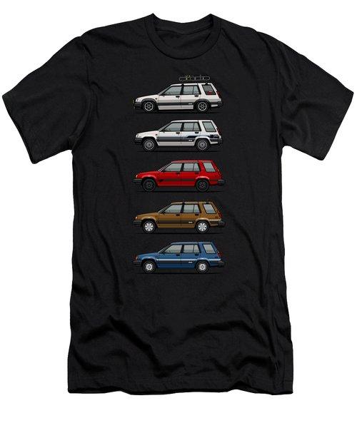 Stack Of Toyota Tercel Sr5 4wd Al25 Wagons Men's T-Shirt (Athletic Fit)