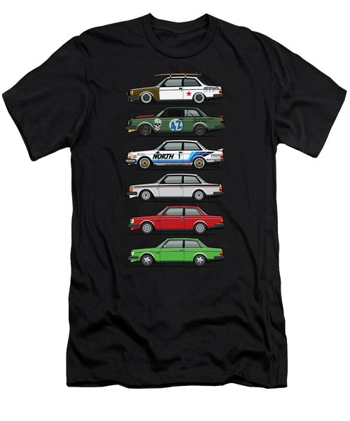 Stack Of Volvo 242 240 Series Brick Coupes Men's T-Shirt (Athletic Fit)