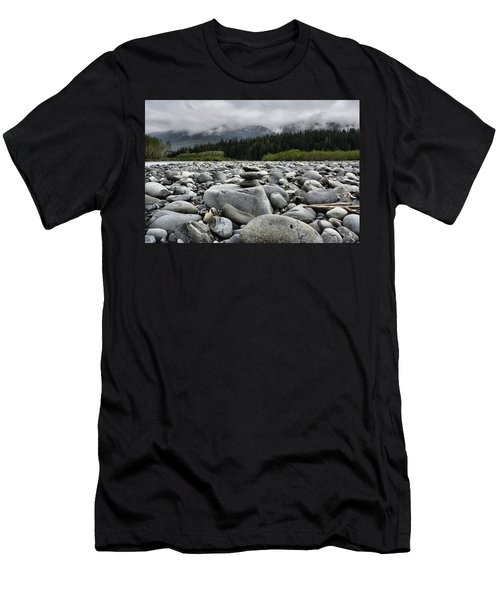 Stacked Rocks Men's T-Shirt (Athletic Fit)
