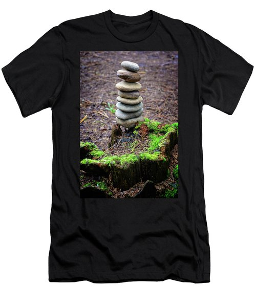 Men's T-Shirt (Slim Fit) featuring the photograph Stacked Stones And Fairy Tales II by Marco Oliveira