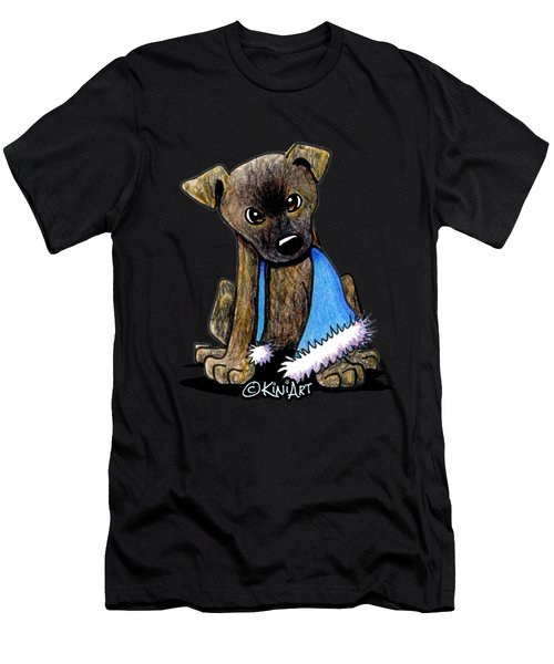 Staffordshire Bull Terrier Brindle Pup Men's T-Shirt (Athletic Fit)