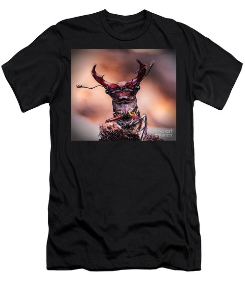 Stag Beetle Stare Down Men's T-Shirt (Athletic Fit)