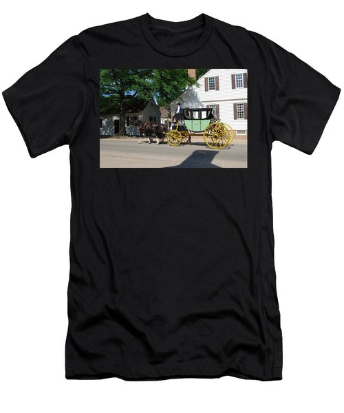 Men's T-Shirt (Slim Fit) featuring the photograph Stage Coach by Eric Liller