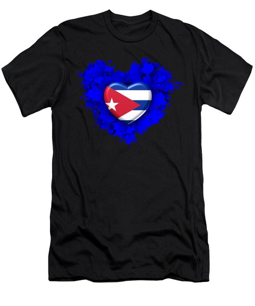 Stain Love To Cuba  Men's T-Shirt (Athletic Fit)