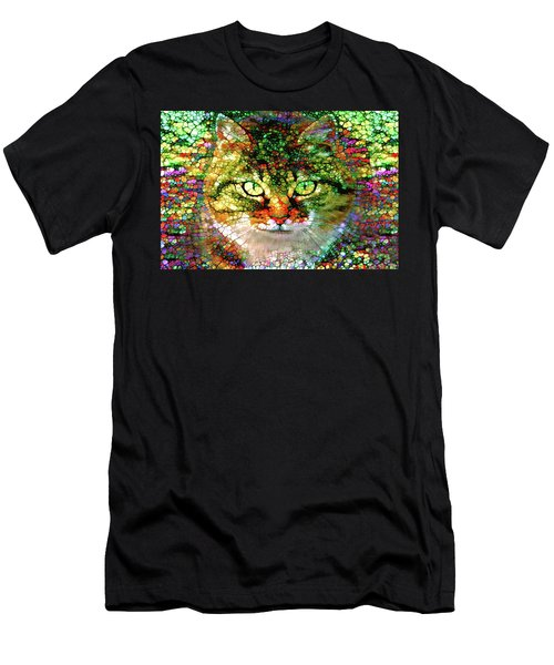 Stained Glass Cat Men's T-Shirt (Athletic Fit)