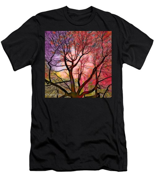 Stained Glass Sunrise 2 Men's T-Shirt (Athletic Fit)