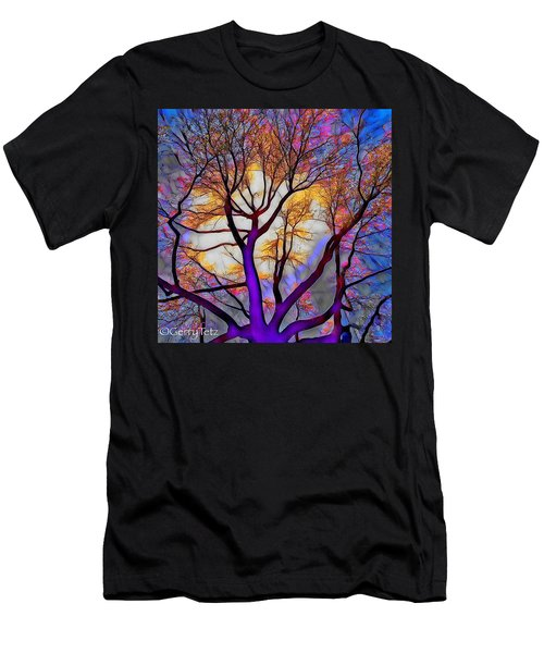 Stained Glass Sunrise Men's T-Shirt (Athletic Fit)