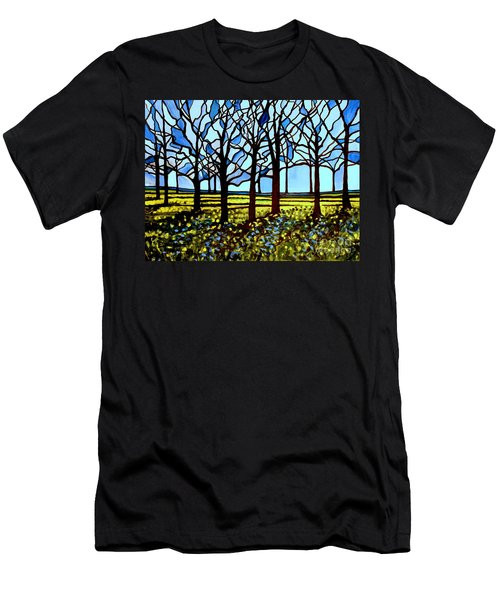 Stained Glass Trees Men's T-Shirt (Athletic Fit)