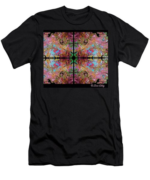 Stained Glass Window Men's T-Shirt (Slim Fit) by Loxi Sibley