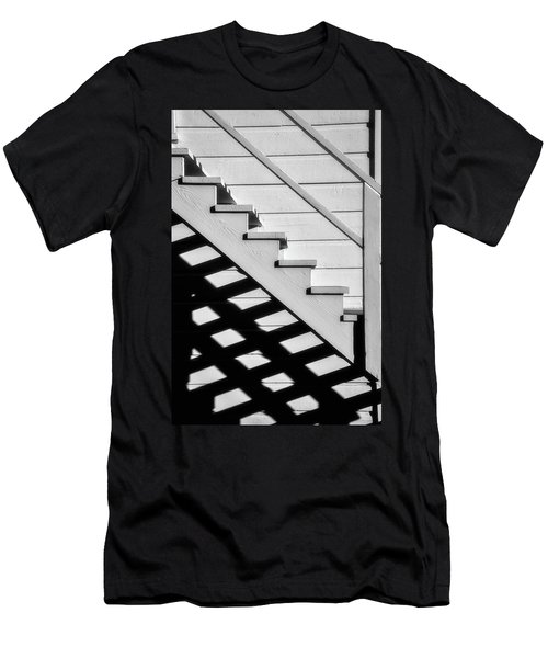 Stairs In Black And White Men's T-Shirt (Athletic Fit)