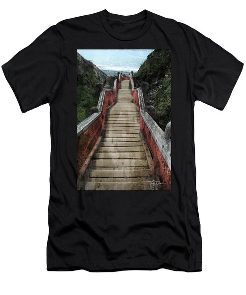 Stairs To Bliss Men's T-Shirt (Athletic Fit)