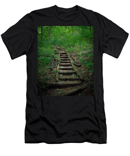 Stairway At Unicoi Gap On The At Men's T-Shirt (Athletic Fit)