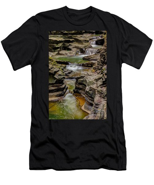 Stairway Waterfalls Men's T-Shirt (Athletic Fit)