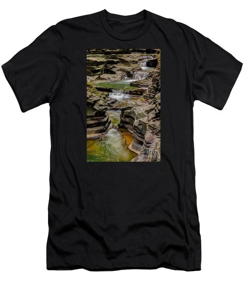 Stairway Waterfalls Men's T-Shirt (Athletic Fit)