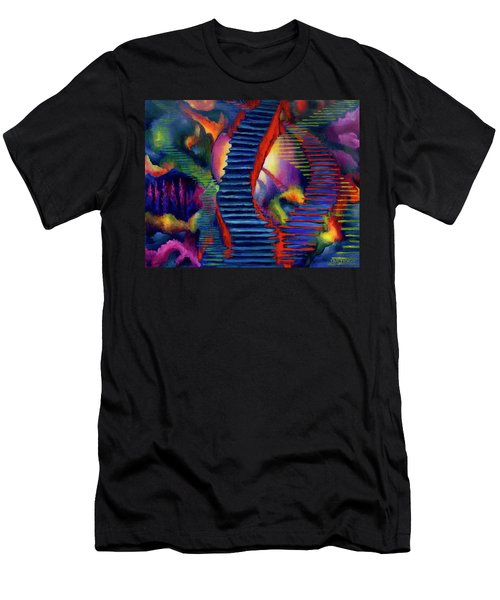 Stairways Men's T-Shirt (Athletic Fit)