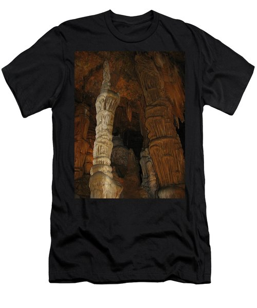 Stalacmites In Luray Caverns Va  Men's T-Shirt (Slim Fit) by Ausra Huntington nee Paulauskaite