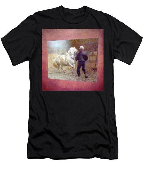 Stallion's Springtime Emotions Men's T-Shirt (Athletic Fit)