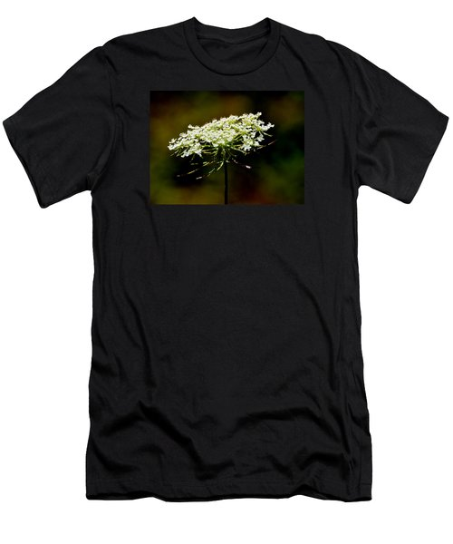 Men's T-Shirt (Slim Fit) featuring the photograph Stamens Of Queen Annes Lace 2  by Lyle Crump