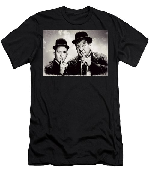 Stan And Ollie Comedy Duos Men's T-Shirt (Athletic Fit)