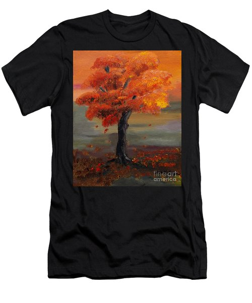 Stand Alone In Color - Autumn - Tree Men's T-Shirt (Athletic Fit)
